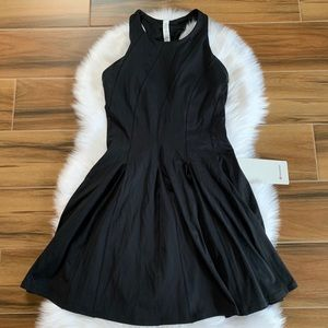 Lululemon court court tennis dress black nulux new